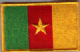 Cameroon Embroidered Flag Patch, style 08.
